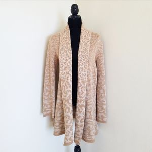 Isaac mizrahi cheetah tan cardigan sweater